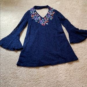 Medium blue lace Dress